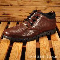 广州新款潮流休闲皮鞋男鞋真皮男靴子男式英伦单靴子短靴厂家直销