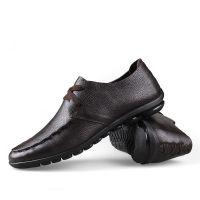 新款冬季男士豆豆鞋韩版时尚开车鞋英伦潮鞋头层真皮板鞋男鞋子