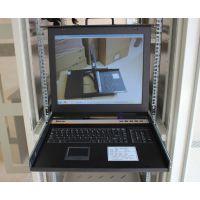 科创1U机架式LCD液晶控制台17寸折叠液晶显示器KC-1701KVM切换器