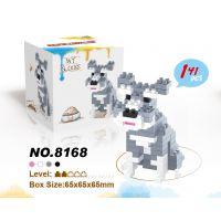 新款迷你动物微颗粒积木雪纳拉狗3合1小颗粒钻石积木益智玩具批发