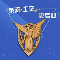 供应天使造型镂空司徽,佩戴在西服上的胸章定做,广州莱莉