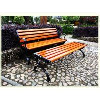 户外园林休闲椅 铁艺公园椅 花园定做铸铁脚带靠背椅 铸铁椅