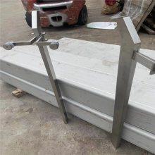 金聚进 现货 不锈钢双夹玻璃栏杆 不锈钢空心管15*60栏杆立柱 刀头立柱
