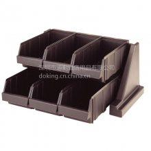 6RS6_美国CAMBRO 多功能组合架 架子带6个盒 深褐色