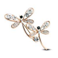韩版蜻蜓合金动物胸花 蝴蝶胸针 服装配饰 时尚配饰 4996