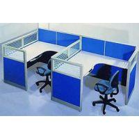 办公家具现代双人员工电脑桌 屏风简约职员办公桌椅4人组合