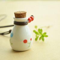 礼物 日系精致手绘情侣许愿瓶 香薰香水许愿瓶挂件饰品