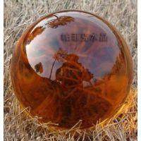 厂价直销K9透明水晶球光学玻璃琥珀色光球批发