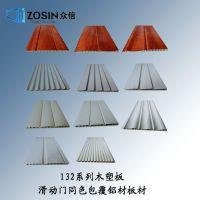 舟山包覆铝材 衣柜移门铝型材厂家 覆膜移门边框料