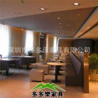 酒店高档西皮古典皮艺沙发  多人组合卡座沙发 可成套家具定制