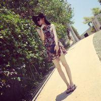 【YESWOMNE】小宜定制 夏季新款女装 复古雪纺背心碎花连衣裙X337