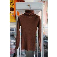 厂家直销2015春款新款韩版外贸原单出口镂空高领打底衫女式毛衣