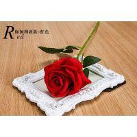 仿真花单支玫瑰花朵假花装饰花客厅落地插花干花花束塑料花批发