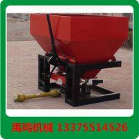 禹鸣机械2FX-1000大容量双盘撒肥机,厂家生产大容量单盘双盘铁通塑料桶拖拉机后置撒肥机农业机械