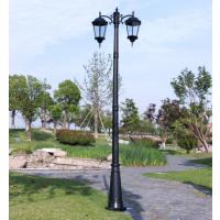 3米户外欧式庭院灯别墅花园道路灯LED灯铸铝双头庭院灯 中山创赢照明厂