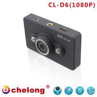 """2.7""""TFT car DVR night vision camera recorder HD/1080P-D6DVR"""