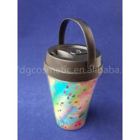 供应 质优价廉9OZ双层隔热杯 星巴克双层塑料杯 咖啡杯 马克杯