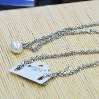 丽银jewelry 项饰品 单珍珠毛衣链 银白色 时尚ol 速卖通货源批发
