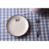出口陶瓷餐具 新骨瓷 创意盘 日式盘 蛋糕盘 意面盘 可印logo