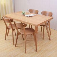 热卖 现代餐厅西餐桌 榉木实木桌椅 四人位西餐桌 可定做