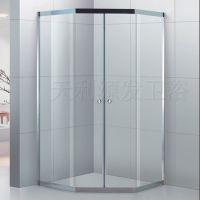 天利源发不锈钢钻石形两固两活卫生间隔断 浴室玻璃隔断沐浴房