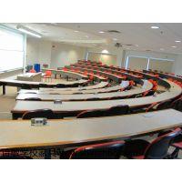 阶梯教室课桌椅多媒体教室课桌椅 报告厅桌椅 诗敏学校家具学生课桌