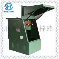 中国.紫辉喷塑军绿铁皮户外电缆分接箱 紫辉DFW-12-1/3高压电缆分接箱