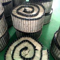 乾德机械波状挡边不锈钢输送链板线 板式输送线 链板生产厂家