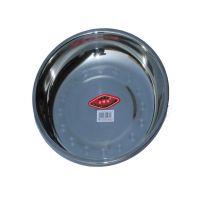 不锈钢菜盘 圆形不锈钢盘 家商两用不锈钢盘子餐具 可定制