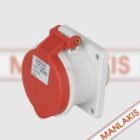 上海嘉定国际五金机电城经销上曼电气MANLAKIS TYP1385 16A-6h检修箱插座
