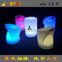 火拼户外休闲家具LED发光圆桌酒吧餐厅客厅酒店都可使用发光茶几
