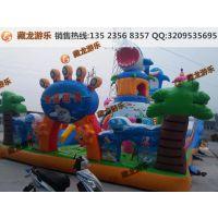 孩子玩的游乐气垫郑州直销厂家 大气包哪家的报价实惠 充气滑梯怎么收钱