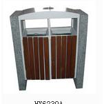 西安钢木进口防腐木户外垃圾桶玉洁环卫