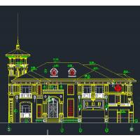 多露台带多功能房都市三层简洁农村房屋设计图24.4x22.1米