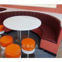 南山茶餐厅防火板圆桌 板式餐桌卡座组合 快餐店多人位餐桌椅