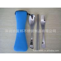 供应高档抛光餐具/可爱枕形布袋餐具/厂价直供礼品餐具套装