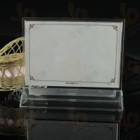 厂家低价批发销售亚克力7.5寸透明台签/PS注塑加工制作台卡