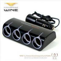正品韩国进口Autoban红酒电源分配点烟器一分四带USB开关 AW-Z07