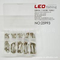 25992 【白色带孔鱼钩】(10个规格的大小)外贸钓鱼钩鱼针 渔具