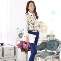 2015春装新款韩版大码女装长袖修身雪纺衫上衣打底衫