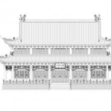大雄宝殿建筑设计施工图,寺庙规划设计图纸