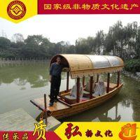 海南广东福建江西哪有木船厂家出售景区私人定制木船 大型公园客船旅游观光船