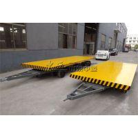山东中运机场行李轻型牵引半挂平板拖车