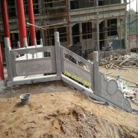 厂家定做寺庙石栏杆 青石雕花栏杆 石头护栏价格