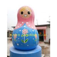俄罗斯套娃雕塑民族风情套娃雕塑广场创意装饰工艺品