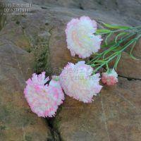 母亲节热销B7131-3头康乃馨 批发仿真花假花绢布 丁香花仿真植物
