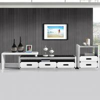 厂家直销电视柜 不锈钢钢化玻璃板式家具5抽收纳客厅爆款酒店家具