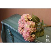 5号绣球欧系5头把花,厂家直销,高仿真绣球花艺婚庆用花