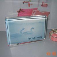 水晶透明有机玻璃相架   亚克力水晶相框  高档相架   相片摆台