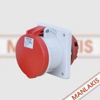 扬州经销上曼电气MANLAKIS TYP1155 63A-6h 5P检修箱插座 现货特价